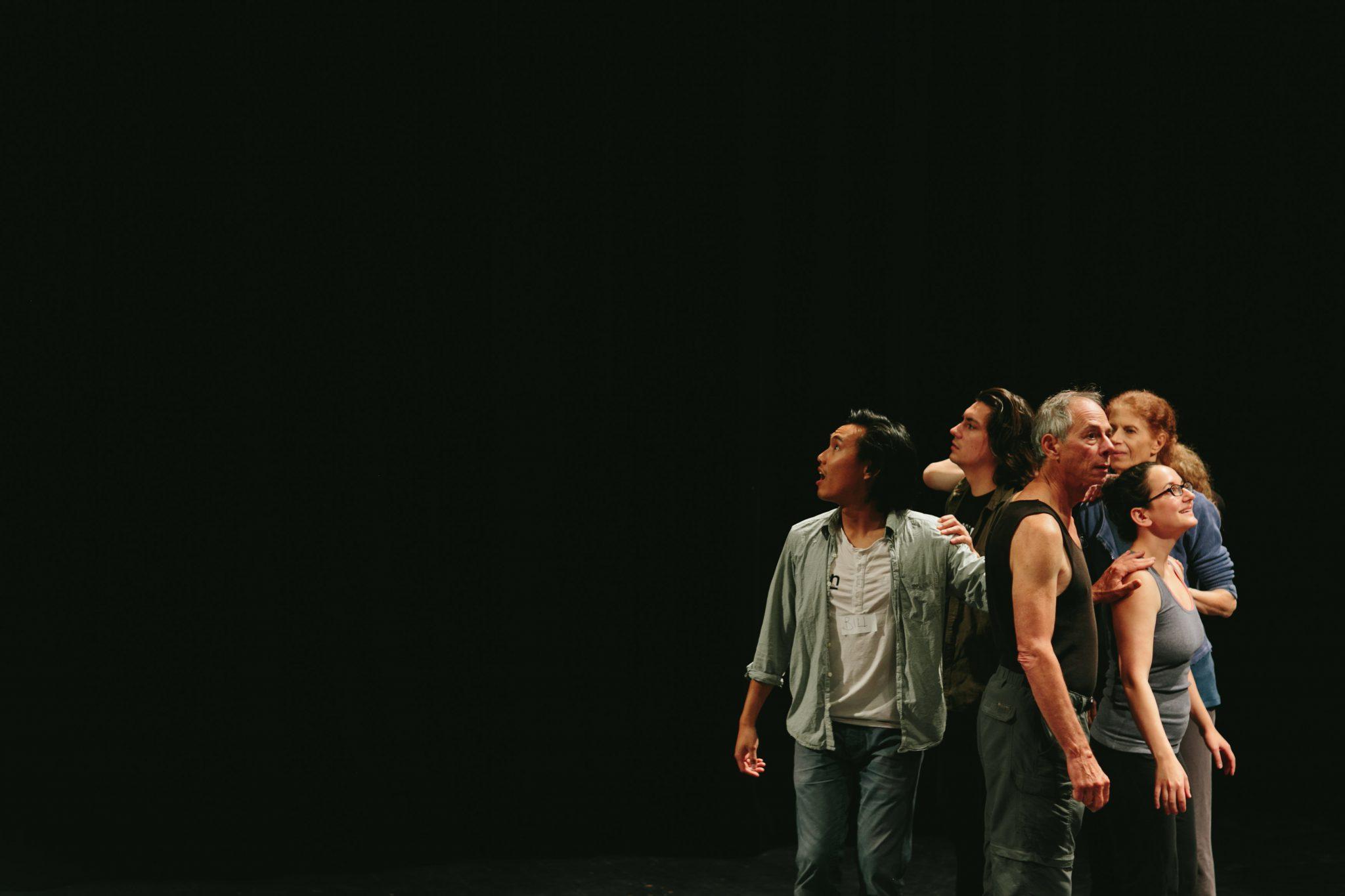 """Brave New World""  Choreography by Shula Strassfled Performers: David Barnet, Becca Barrington, Stuart Kandall, Barry Bilinsky, Shula Strassfeld & Bill Yong Photo by Mat Simpson"
